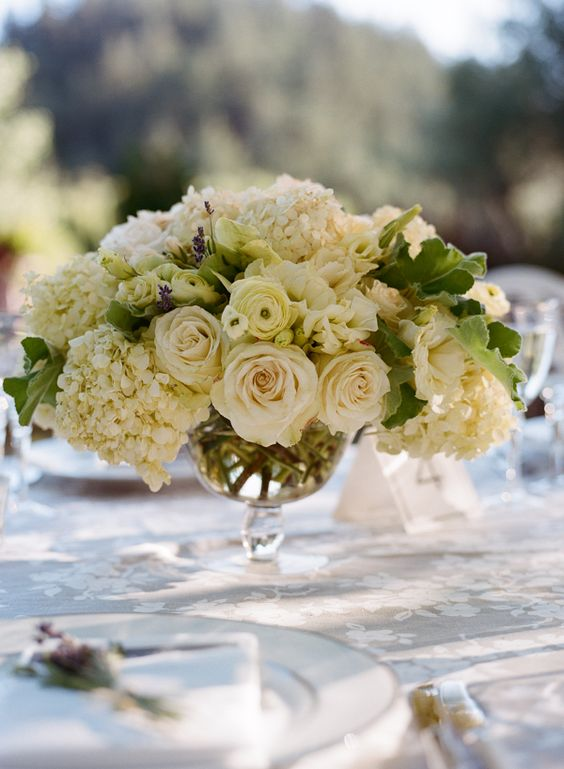 Floral centerpiece by kathleen deery with garden rose
