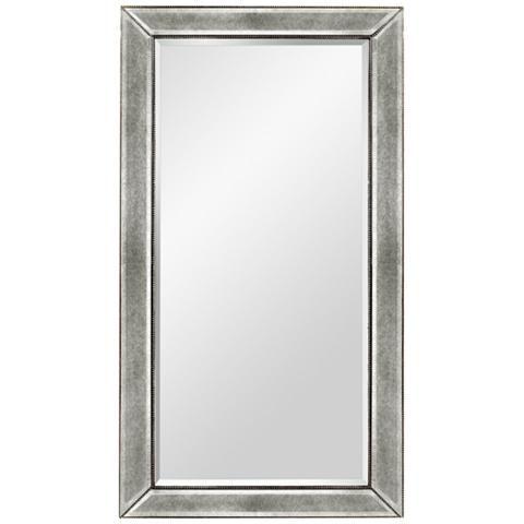 Hollywood Glam Silver Leaf 36 X 48 Beaded Wall Mirror 58k42 Lamps Plus Mirror Wall Mirror Glam Mirror 36 x 48 framed mirror