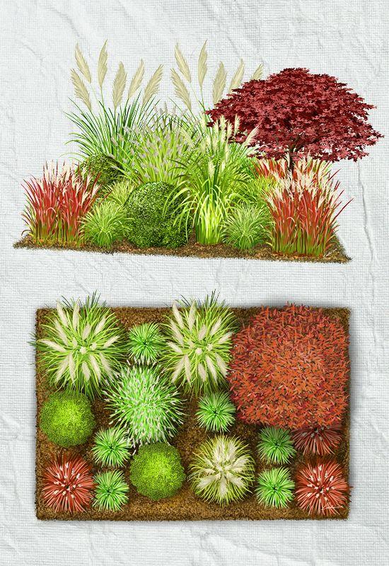 Garteninspiration Gräser, Verloren und Highlights - gemusegarten anlegen pflanzplan