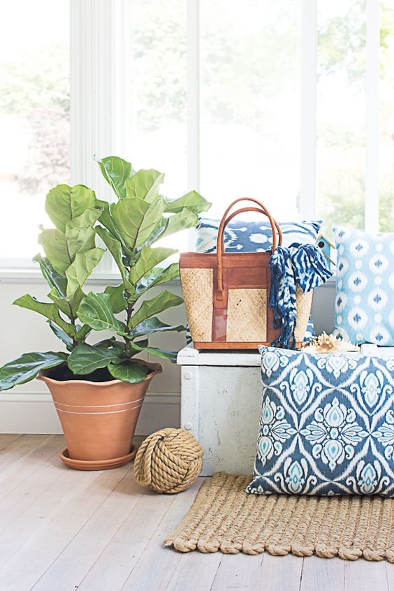 Blue and white is classic, coastal, and relaxed. It's my favorite color combination and I wanted to share my favorite blue and white decorating ideas for summer!