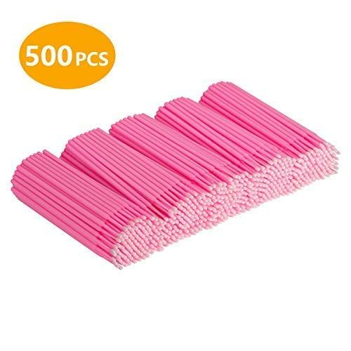Cuttte 500 Pcs Disposable Micro Applicators Brushes Latisse Applicator For Eyelashes Extensions And Makeup Application Eyelash Lift Eyelash Extensions For Lash