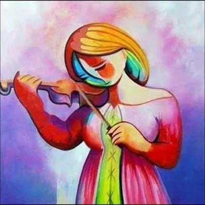 Mujer tocando el violin
