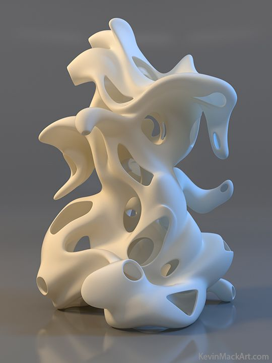 2/29/2016___I like how the artist made this sculpture fluid and liquid looking, like milk with ice cubes in it.: