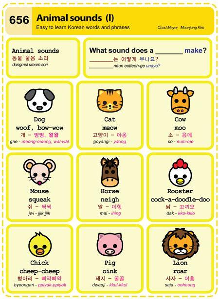 Easy to Learn Korean - Animal Sounds I
