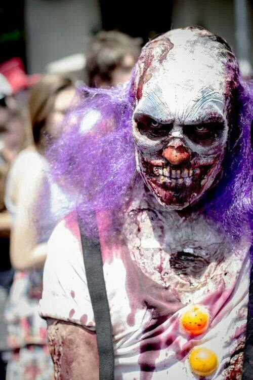 Zombie Clown (face paint for Halloween)