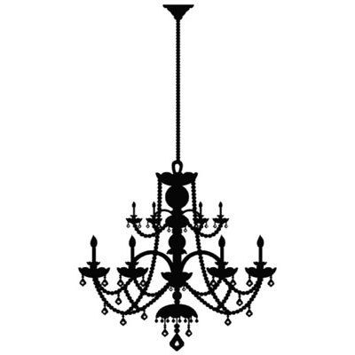 SALE 24 inch tall DIY Chandelier Vinyl Decal by VinylSkyGraphics, $22.00