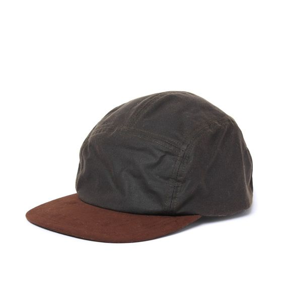 Barbour Waxed Cotton Flat Bill Cap