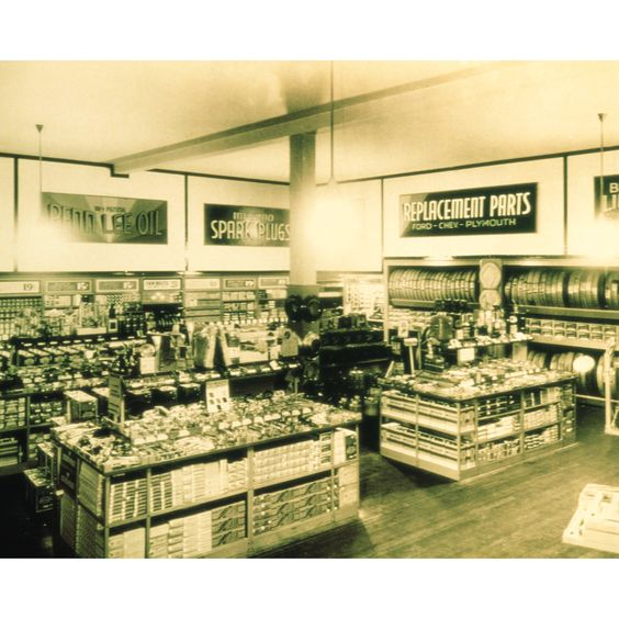 One of the first Advance Auto Parts stores from the early 1930's.