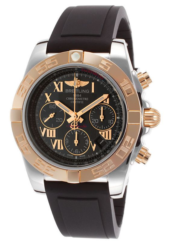 Breitling CB014012-BC08136S Men's Chronomat 41 Chronograph Black Polyurethane #Breitling #Luxury