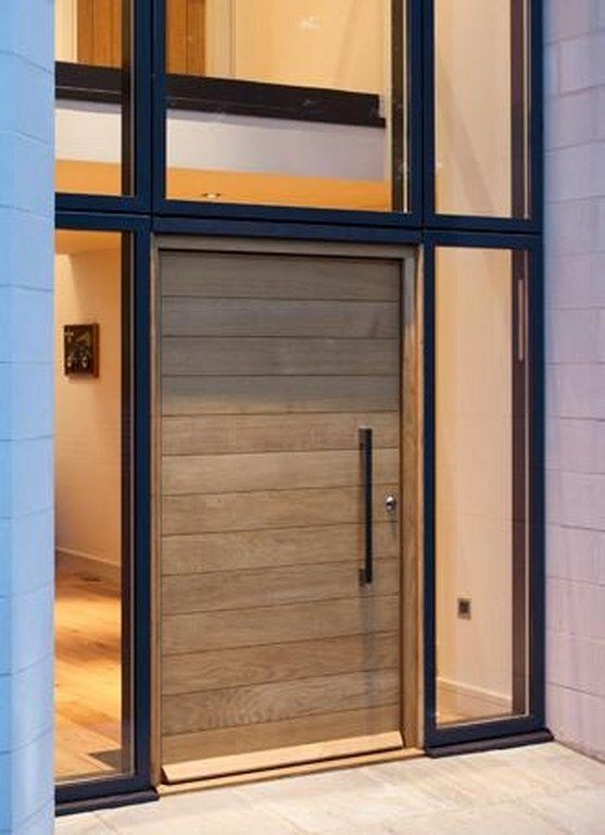 Wooden doors contemporary front doors and doors on pinterest for Wooden entrance doors