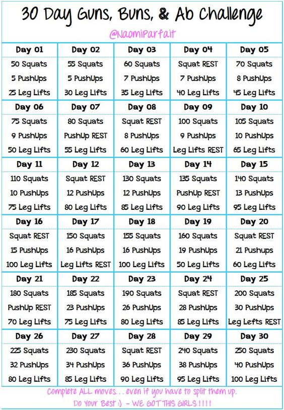 Join me for my Guns, Buns, & Abs 30 Day Challenge! It's going to be tough, but it will all be worth it in the end!!! Thanks to my #TIUSisters  for the inspiration!  -- Arms, Booty, & Abs Workout -- | --  Squats, Pushups, Leg Lifts -- #GunsBunsAbs