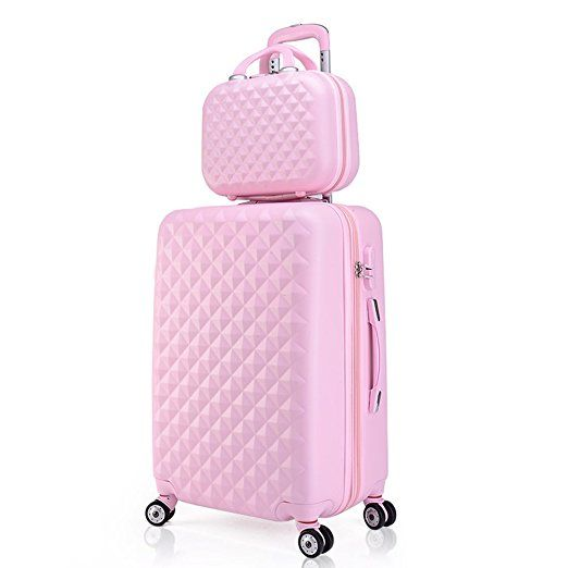 Amazon.com | 2 Piece Luggage Set Spinner Trolley Suitcase Hard Shell Carry On Bag (20 Inch, Green) | Luggage Sets