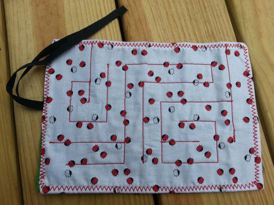 Marble Maze Custom Made Travel Game Fabric Sensory Fidget