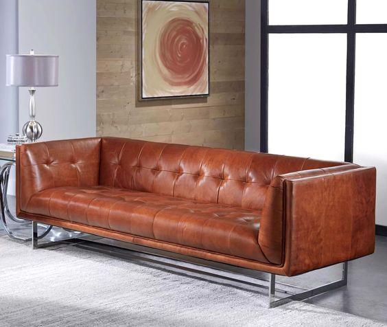 Những mẫu sofa da thật mang vẻ đẹp hiện đại và thanh lịch