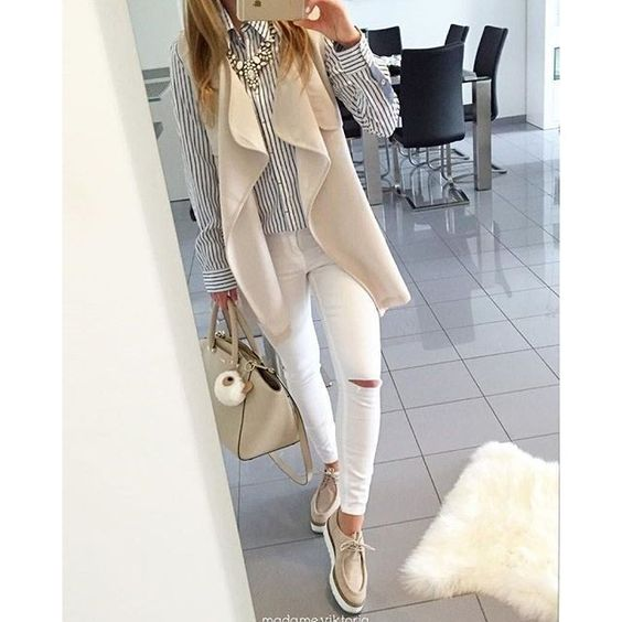 Fall in neutral colors! Totally in love with this outfit!