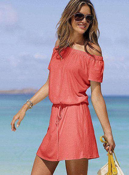 Coral dress #Victoriassecret