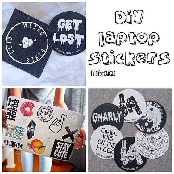 DIY laptop stickers | Macbook (Macy) Decorations ...