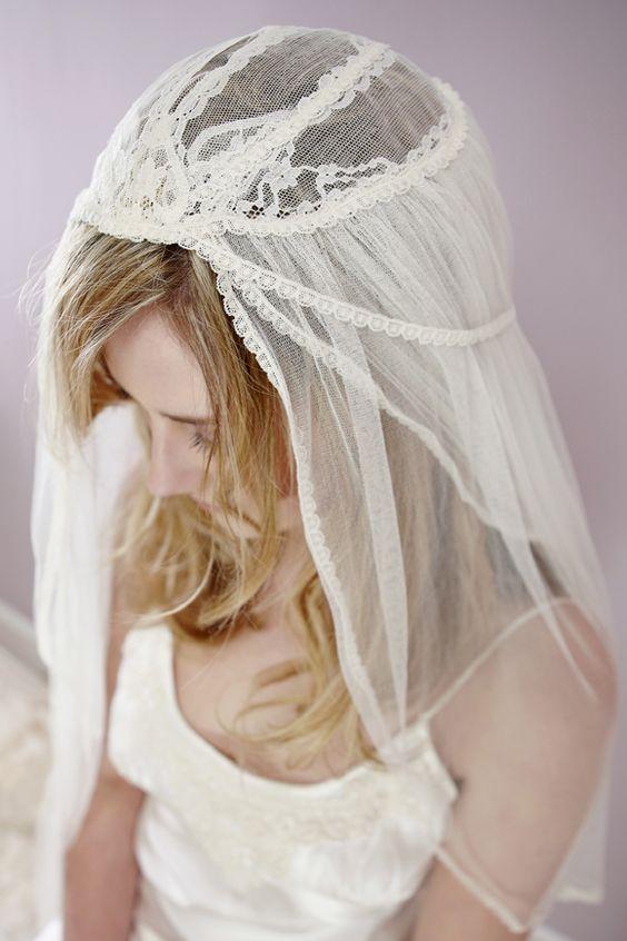 vintage 20s style veil by LoveBySusie