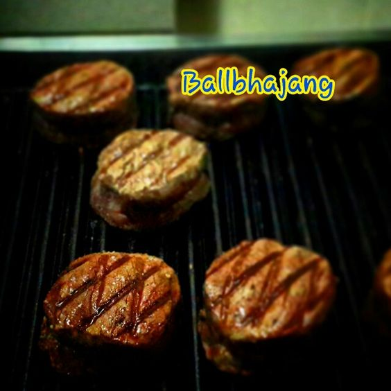 Chargrilled beef 240days black angus of tenderloin was degree 45°c