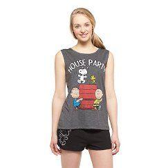 Women's Peanuts House Party Sleeveless PJ Set