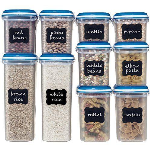 Aliments Conteneurs de stockage avec couvercles en plastique hermétique cuisine Pantry organisation