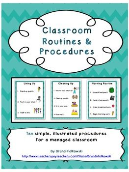 Classroom Routines and Procedures - Printable Posters for Classroom Management. Just in time for the beginning of the year!
