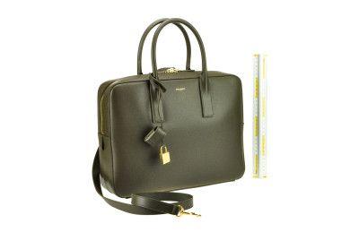 SAINT LAURENT Ysl Briefcase. #saintlaurent #bags #shoulder bags #hand bags #leather #lining