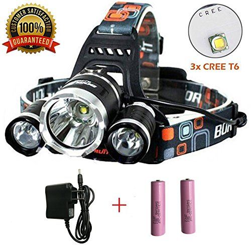 Super Bright Headlamp 15000 Lumens Best 3 T6 Cree Led Lamp Bead And Samsung 18650 3000mah Rechargeable Li Ion Batteries Waterproof Head Lights For Camping Runni Bright Headlamp Cree Led Led Lamp