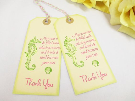 Tag, Gift Tag, Thank You Tag, Welcome Bag Tag, Destination Wedding Tag ...