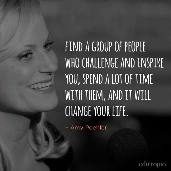 Amy Poehler and her @smrtgrls know the power of positive friendships. staying positive, positivity #positivity