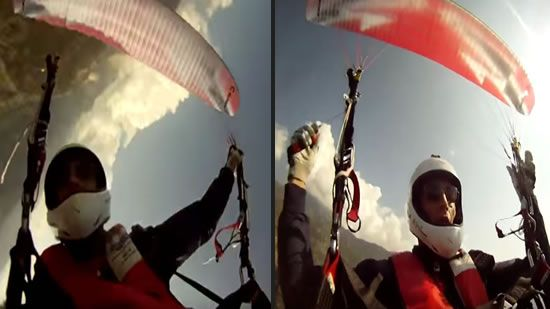 Watch This Skydiver's Chute Tangle And Send Him Plummeting Into The Water
