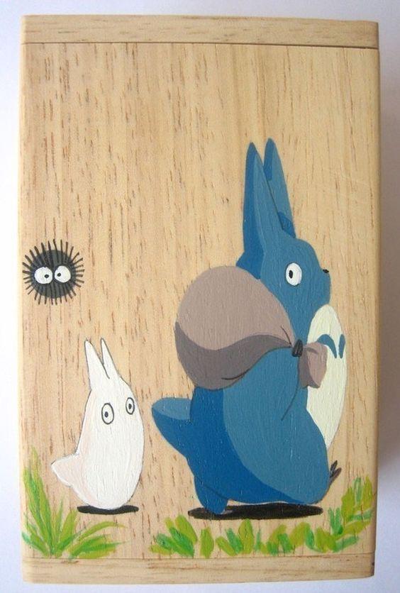 My Neighbor Totoro Hand Paint wood Box Studio Ghibli 4 by cuteart, $14.50