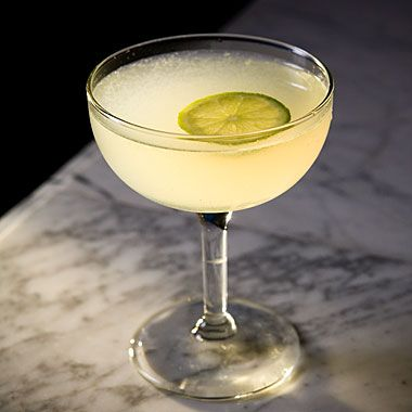 Daiquiri   ingredients  2 tablespoons (1 ounce) fresh lime juice  2 heaping teaspoons superfine sugar  1/4 cup (2 ounces) white rum  1 cup ice cubes  Lime wheel to garnish