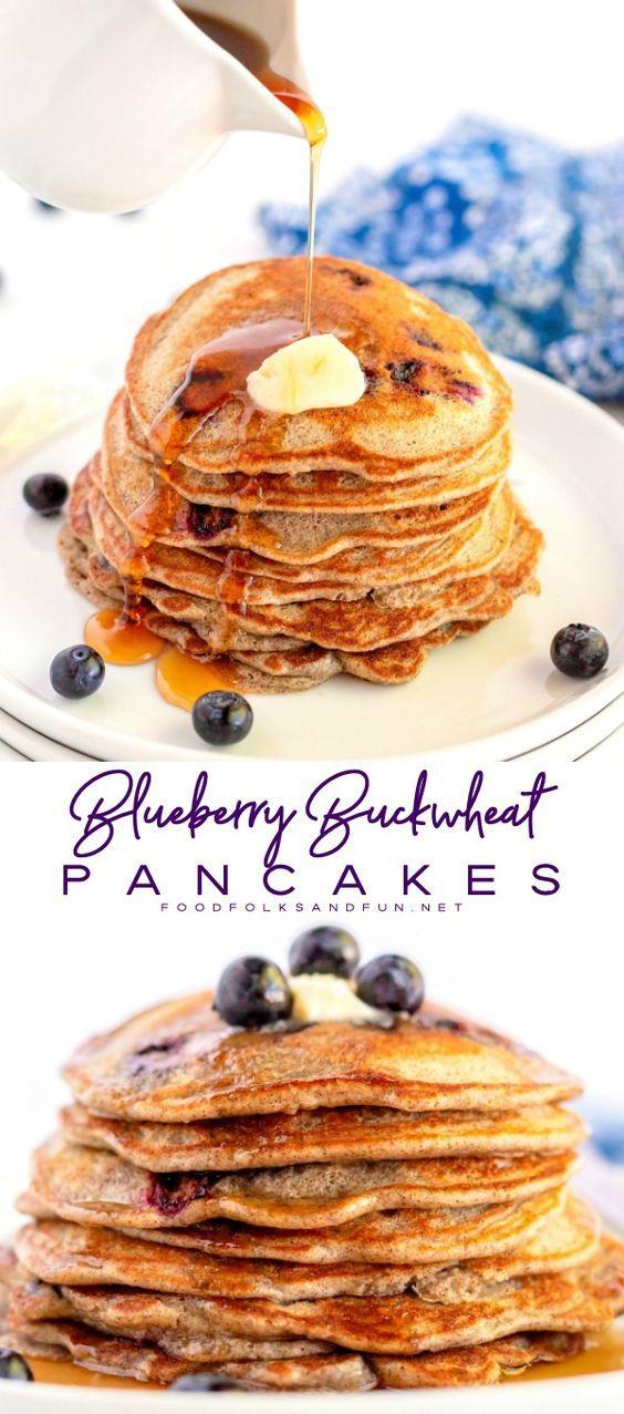 Blueberry Buttermilk Buckwheat Pancakes Buckwheat Pancakes Savoury Cake Fun Cupcake Recipes
