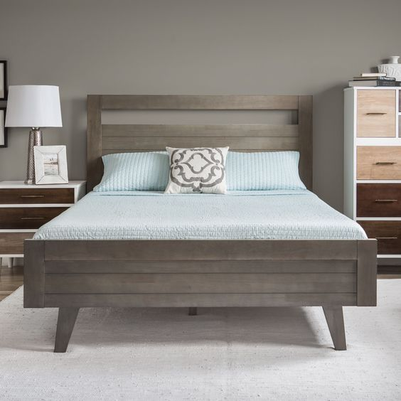 Madrid Light Charcoal Queen Size Bed