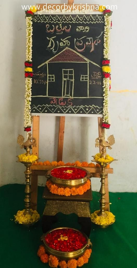 Welcome Board Decor Chalkboard Decor Housewarming Decorations Indian Floral Decor House warming indian style
