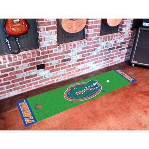 Florida Gators Ncaa Putting Green Runner 18x72 Green Mat Area Rug Pad Golf Putting Green