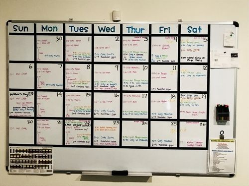 Diy Whiteboard Calendar Customize It For Your Family Naptar