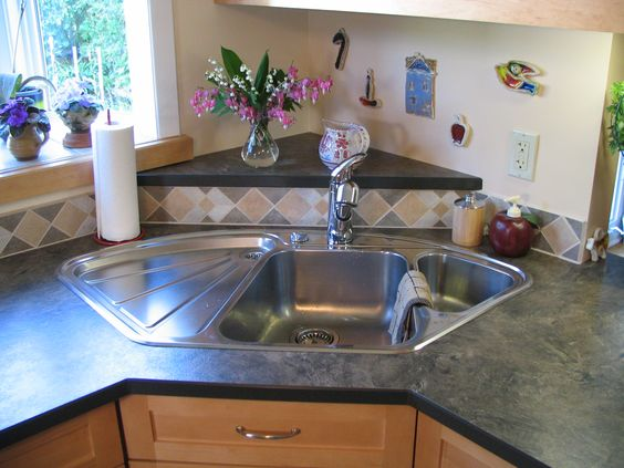 Triangle Sink : ... and more corner sink laminate countertops sinks countertops triangles