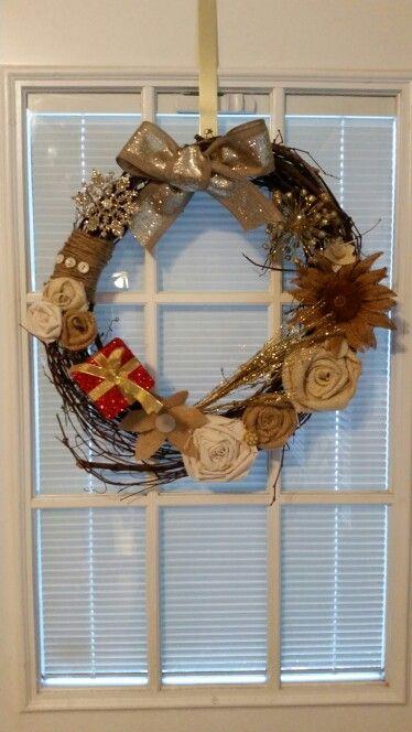 #wreath #decor #countryhome #diy #sunflower #burlap