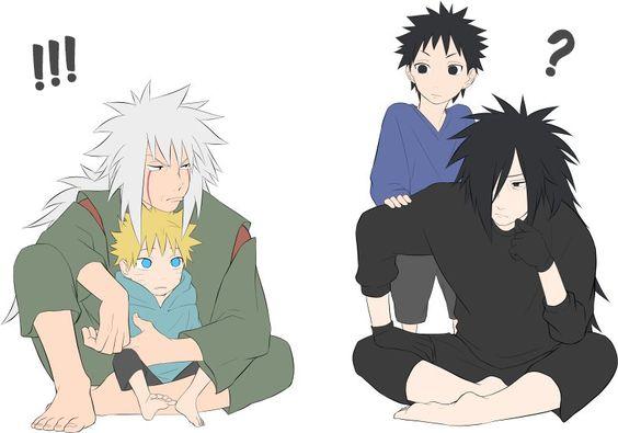 Madara, Obito, Naruto and Ero-sennin <3<3<3<3<3<3<3<3 GOD MADARA