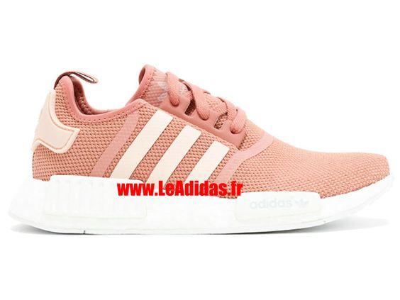Adidas NMD R1 w - Originals Adidas Pas Cher Pour Homme/Femme rose/blanc cru…
