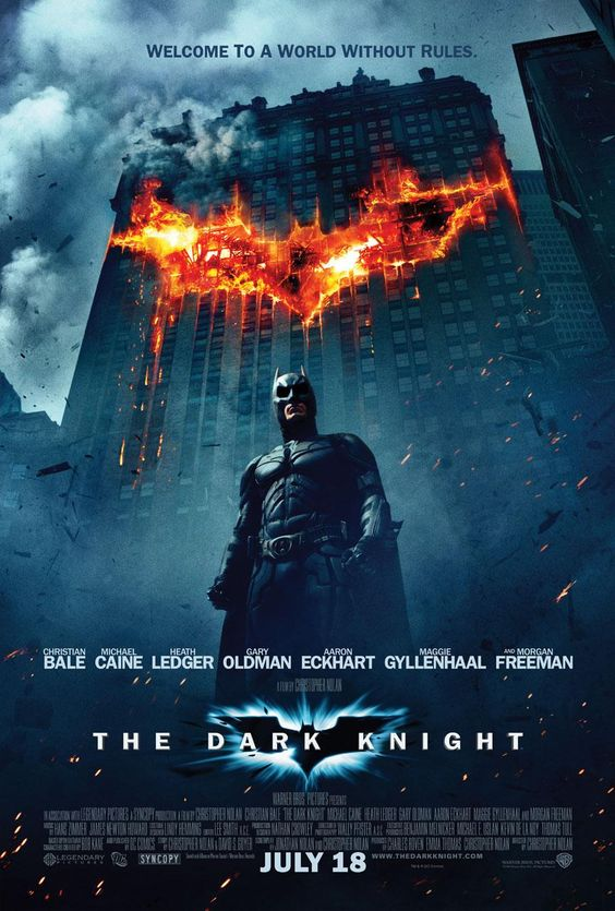 Not a superhero movie, a crime drama about choices, morality and the unclear lines between right and wrong, using Batman as the principal player in a battle against a force of chaos that transforms his beloved city into a battlefield, brought on by the greatest enemy he ever faced, that won't even look at most of the people he murders: The Joker.