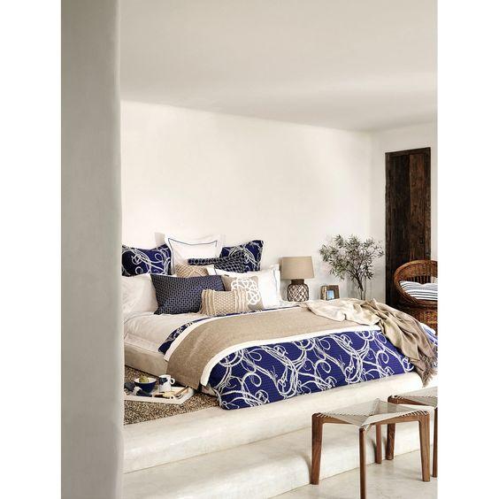 BANCO CUERDA GEOMÉTRICO - Muebles Auxiliares - Cama | Zara Home España