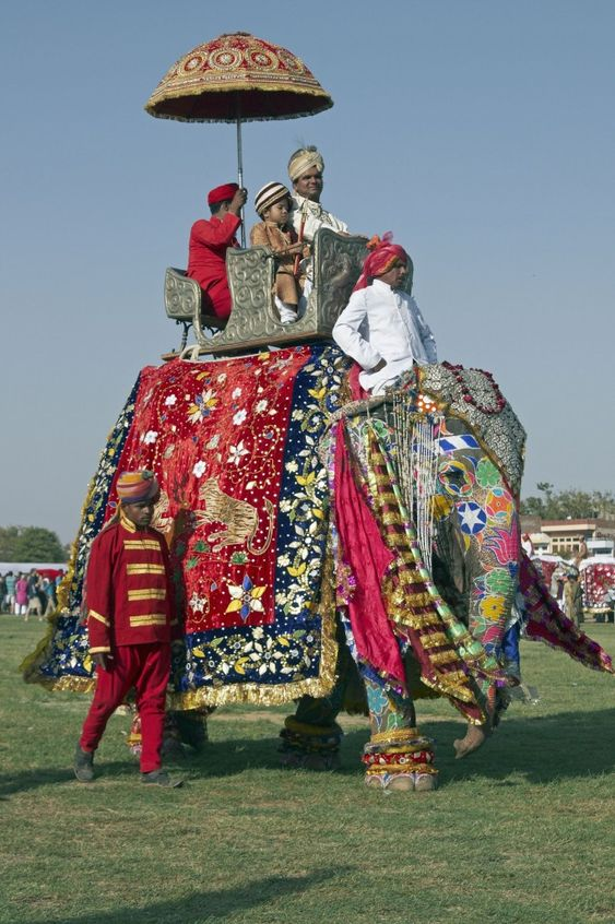 Elephant Festival in Jaipur, India - Decorated elephant at the annual elephant festival in Jaipur, Rajasthan, India, which is held on Holi Eve each year,. Next date: March 5, 2015