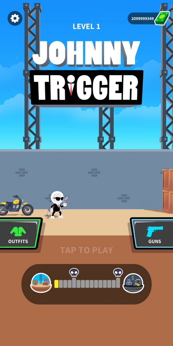 Zona Cacing Mod Apk : cacing, Johnny, Trigger, 1.4.2, (Unlimited, Money), Aksi,, Gerak,, Android