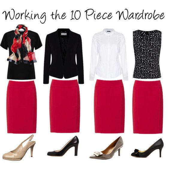 """Working the 10 Piece Wardrobe"" by annabouttown on Polyvore"