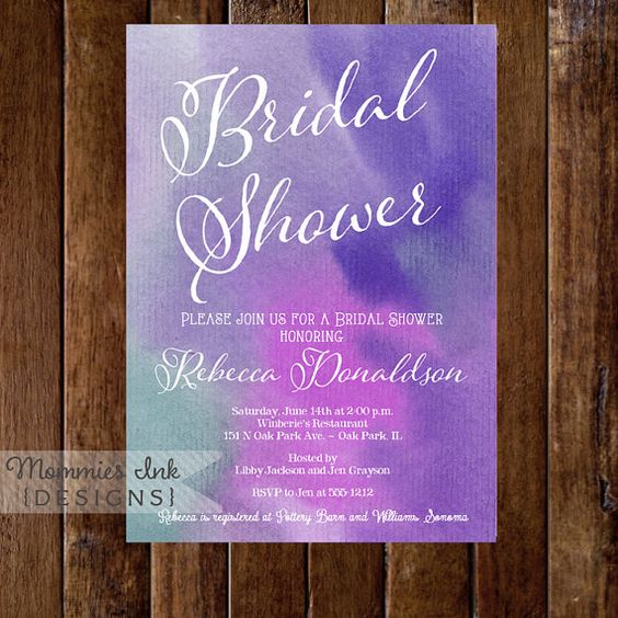 Watercolor Bridal Shower Invitation  Shades of by MommiesInk, $14.00
