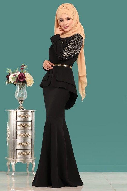 Modaselvim Abiye Ceket Gorunumlu Balik Abiye 5000 Ay342 S Siyah Elbiseler Elbise Modelleri Suslu Elbise