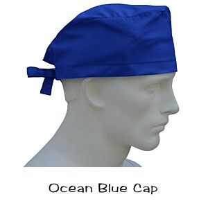 Surgical Caps Ocean Blue $10 usd In Stock 100% Cotton USA Made over 431 designer fabrics Ships Today Worldwide @ www.surgicalcaps.com